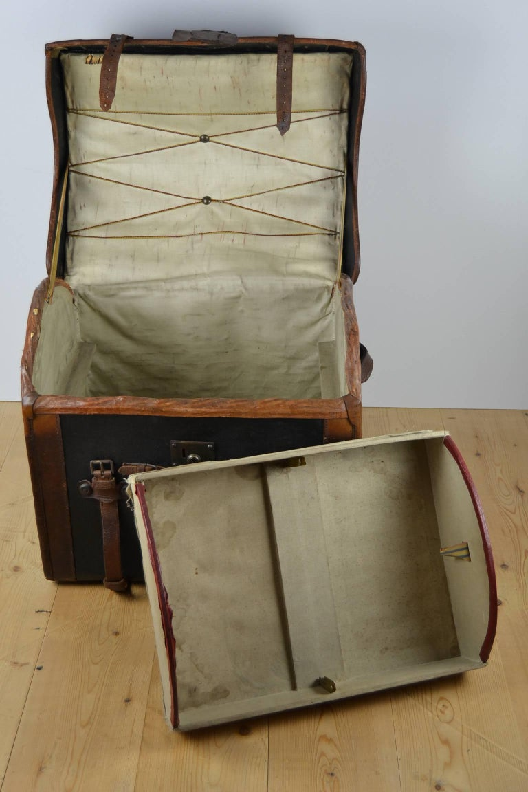 Steamer Trunk, Wicker Covered with Canvas, Late 19th Century 8