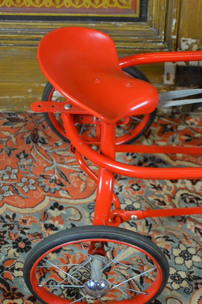 Vintage Soviet Tricycle Pedal Car Horse Toy, 1950s 6