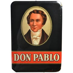 1941 Celluloid Advertising Sign for Don Pablo Cigars