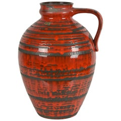 Red Floor Vase by Carstens Tönnieshof, West Germany, Large Size