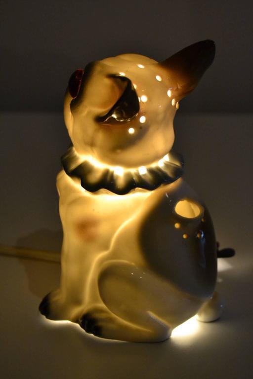 1920s Bavaria Porcelain Perfume Lamp French Bulldog At 1stdibs