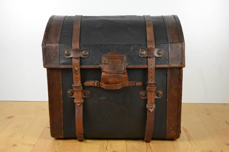 Auto Antique Wicker Trunks : Antique wicker steam trunk covered with canvas for sale at
