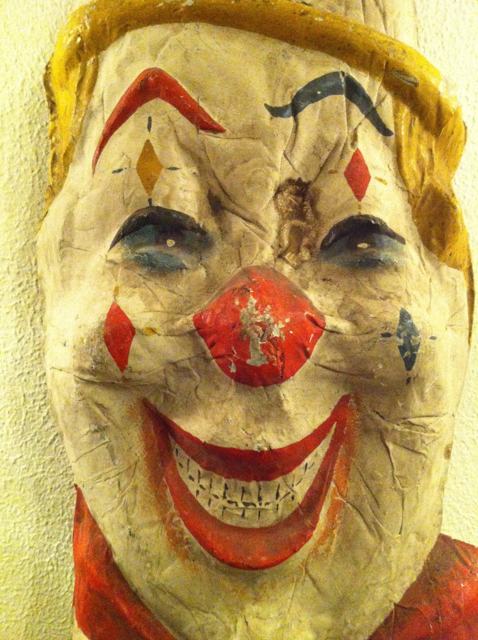 Vintage Papier Mâché Circus Clowns For Sale at 1stdibs