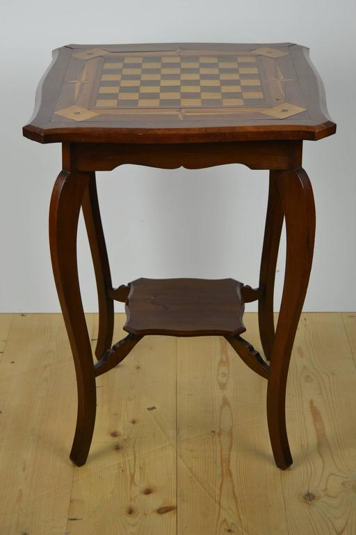 Inlaid Wood Game Table Card Table At 1stdibs