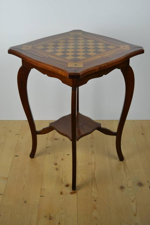 Inlaid wood game table card table for sale at 1stdibs for 11 in 1 game table