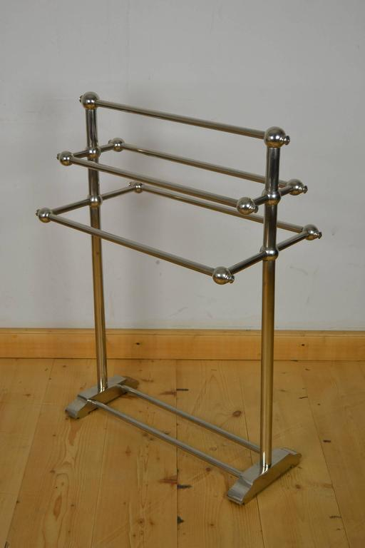 towel stand wooden art deco luxury bathroom towel rack stand rail rack with option to towel rack warmer at 1stdibs