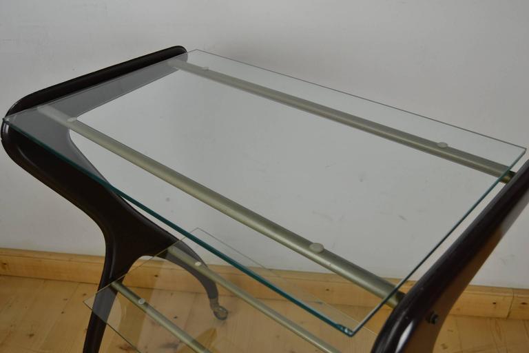 Carlo Mollino style Drinks Trolley, Side Table 2