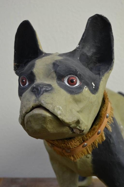 Vintage Papier Mâché Bulldog Toy Dog  For Sale 4