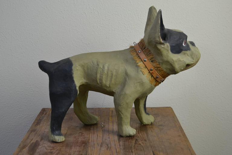 Vintage Papier Mâché Bulldog Toy Dog  For Sale 1