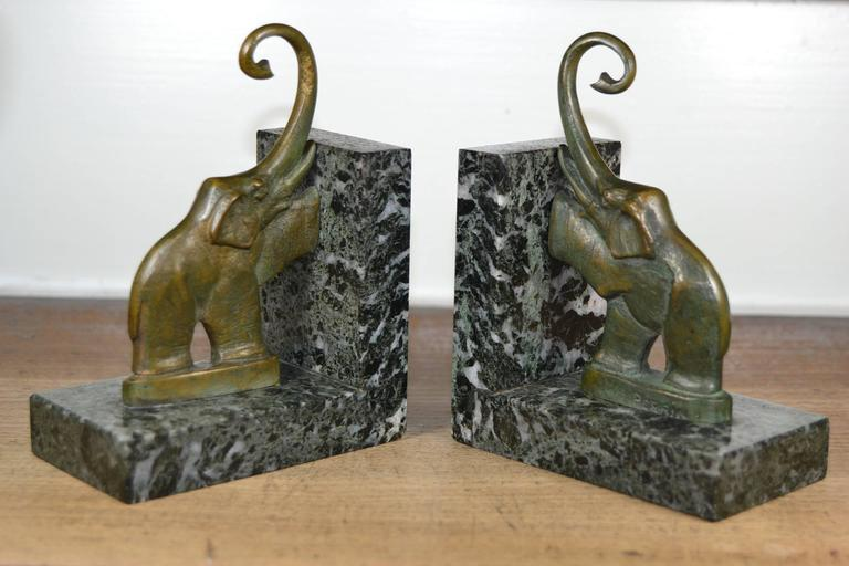 French, Art Deco Elephant Bookends 5