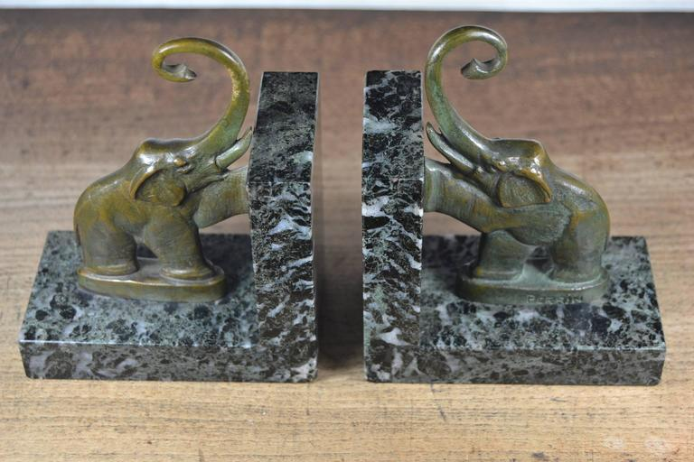 French, Art Deco Elephant Bookends 10