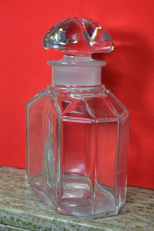 Große Vintage Parfüm Flasche, Guerlain Baccarat 2