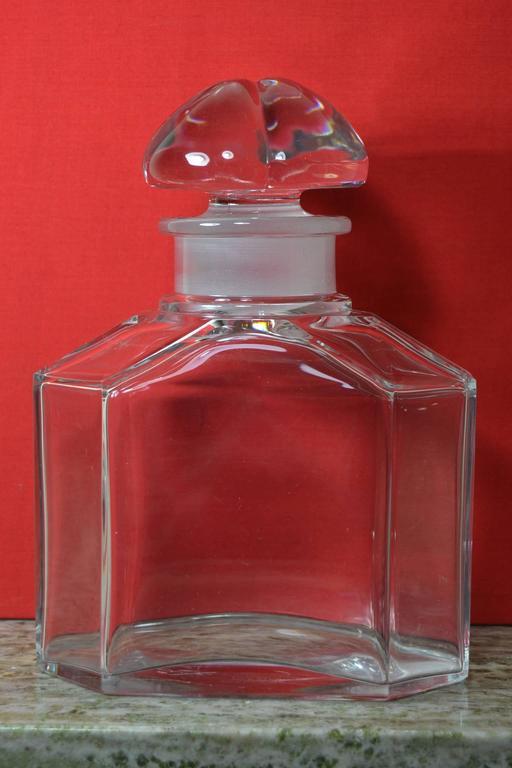Große Vintage Parfüm Flasche, Guerlain Baccarat 9