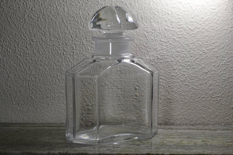 Große Vintage Parfüm Flasche, Guerlain Baccarat 10