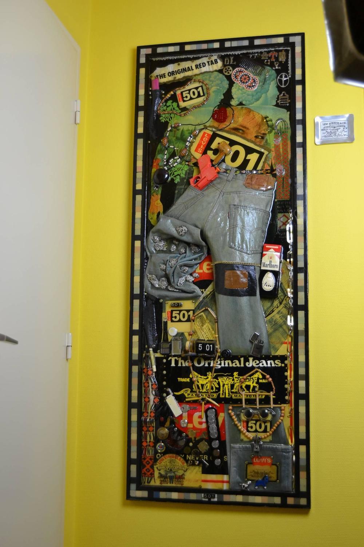 Vintage Levi\'s 501 Piece of Art For Sale at 1stdibs