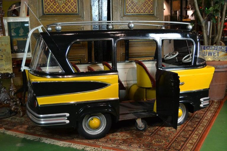 Jeep Renegade Police Car >> L' Autopède Belgian Metal Carousel Bus, 1950s at 1stdibs