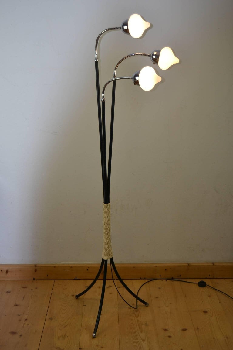 Mid-Century Three-Light Floor Lamp Flexible Arms 2
