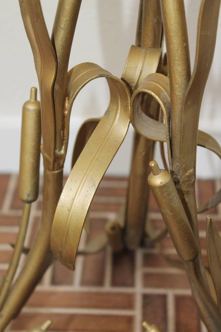 1960s European Brass Cattail Floor Lamp For Sale At 1stdibs