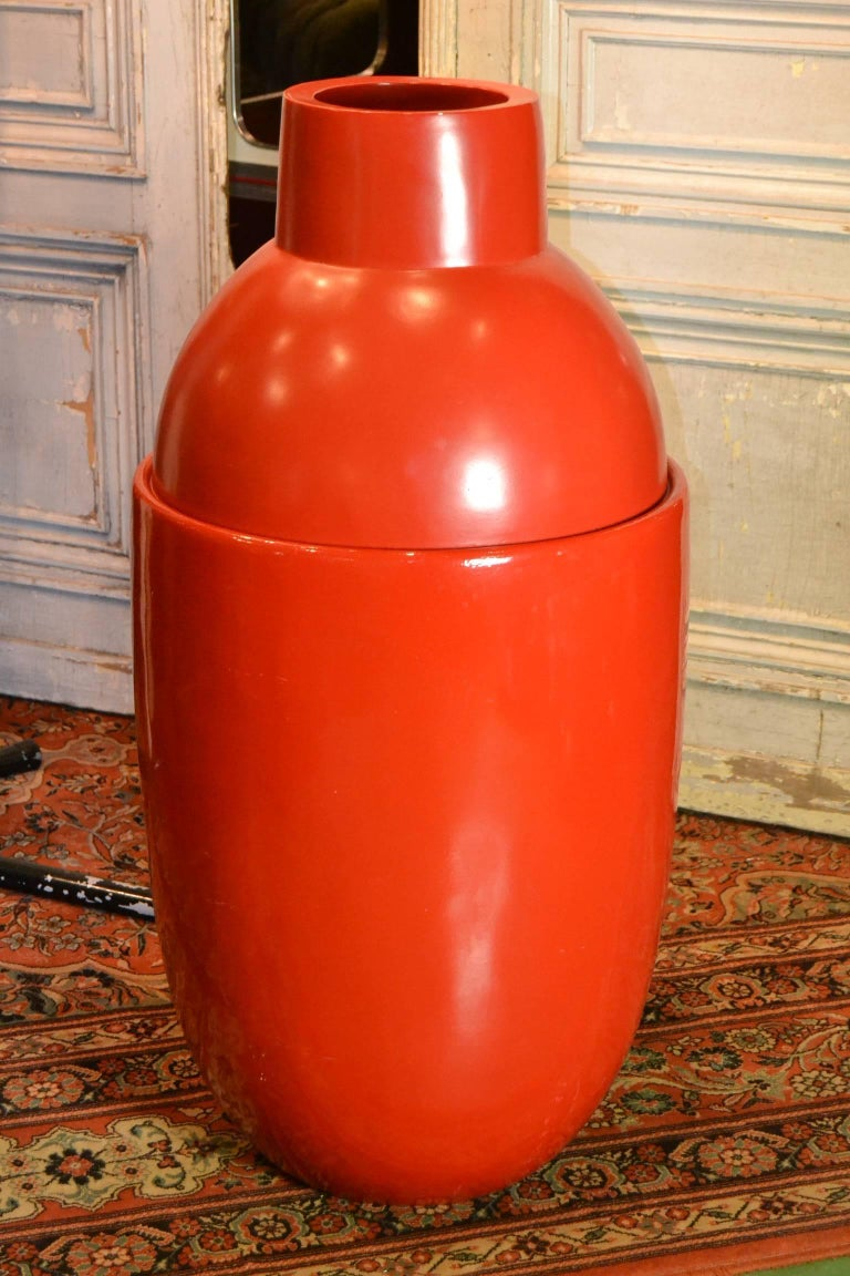 Large modern red fiberglass floor vase by edward van vliet for dutch large modern red fiberglass floor vase by edward van vliet for sale reviewsmspy