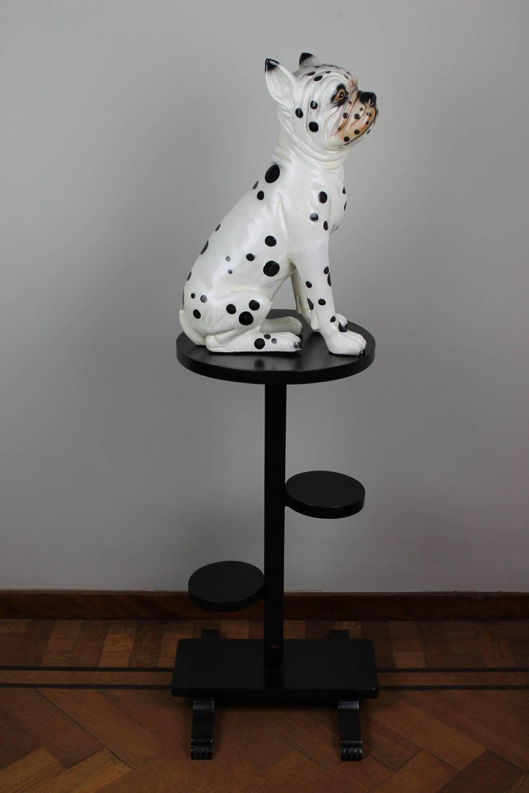 Hand-Painted Ceramic Dog Sculpture, Dalmatian Bulldog, 1960s In Good Condition For Sale In Antwerp, BE