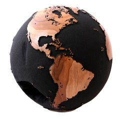 Classic Volcanic Sand HB Globes Teak Root with Natural Caves 25cm, Saturday Sale