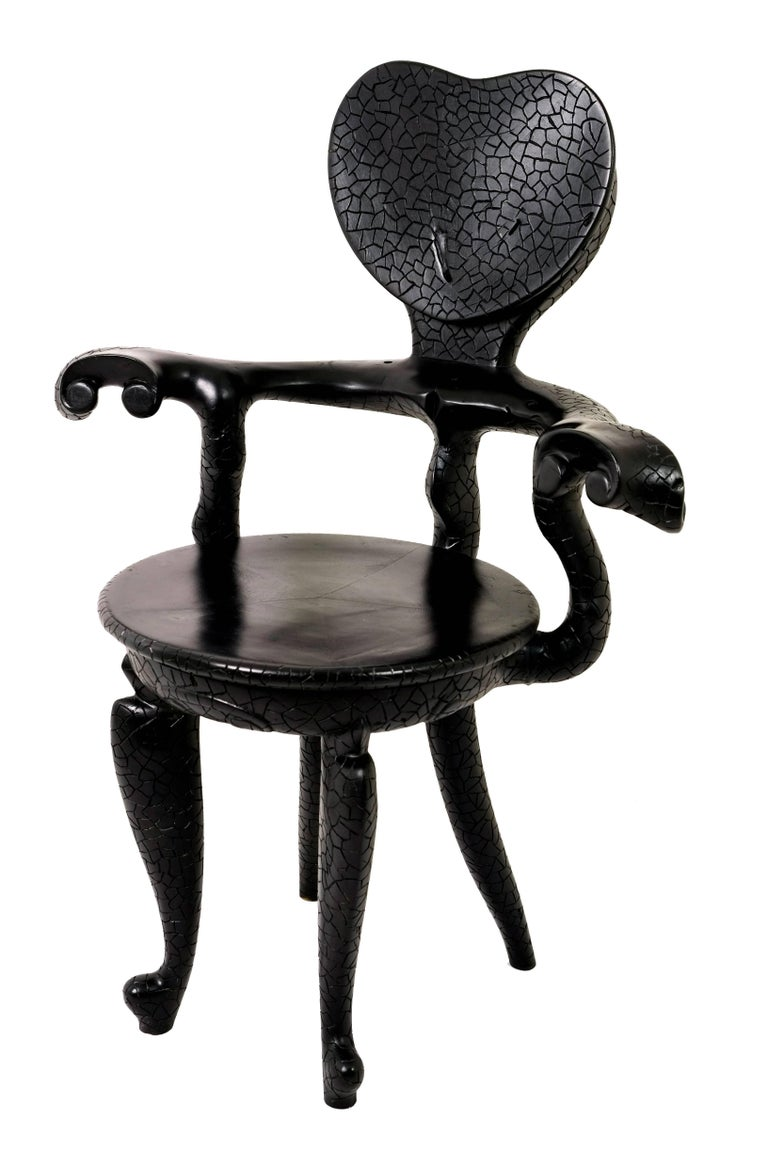Casa Calvet Gaudi Armchair Made of Burnt Lychee Wood with Texture Finishing 3
