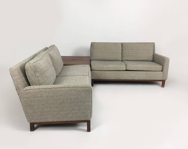 Danish Modern Henredon Sectional Sofa With Corner Storage