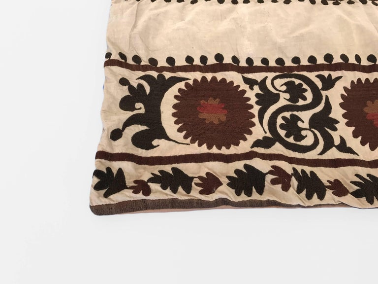 Oversized Animal Floor Pillows : Oversized Suzani Embroidered Floor or Pet Pillow For Sale at 1stdibs