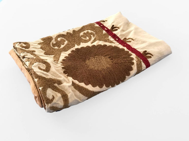 Vintage Floor Pillows : Oversized Vintage Suzani Floor or Pet Pillow For Sale at 1stdibs