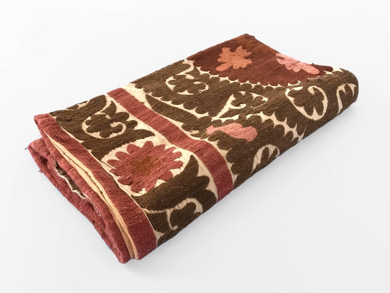 Oversized Animal Floor Pillows : Oversized Vintage Suzani Embroidered Floor or Pet Pillow For Sale at 1stdibs