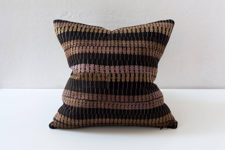 Chinese Huangping Embroidery Pillow, Stripe For Sale