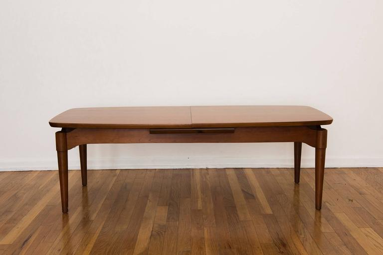Solid Teak Surfboard Coffee Table With Top That Splits To Lengthen The  Width Of The Table