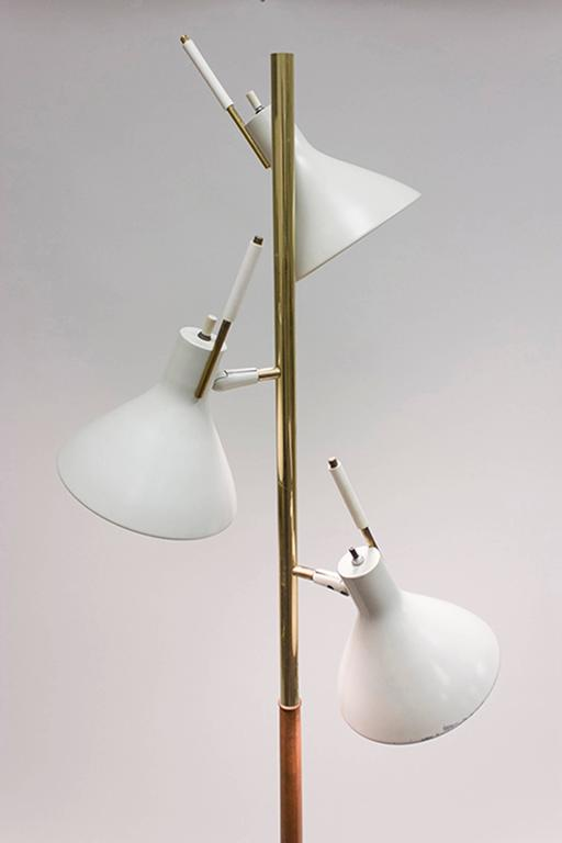 Triple Shade Floor Lamp By Thomas Moser For Lightolier