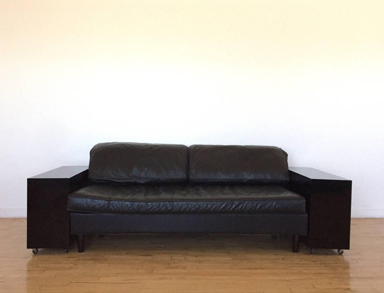 lacquer and leather lota sofa by eileen gray designed 1924 for sale at 1stdibs. Black Bedroom Furniture Sets. Home Design Ideas