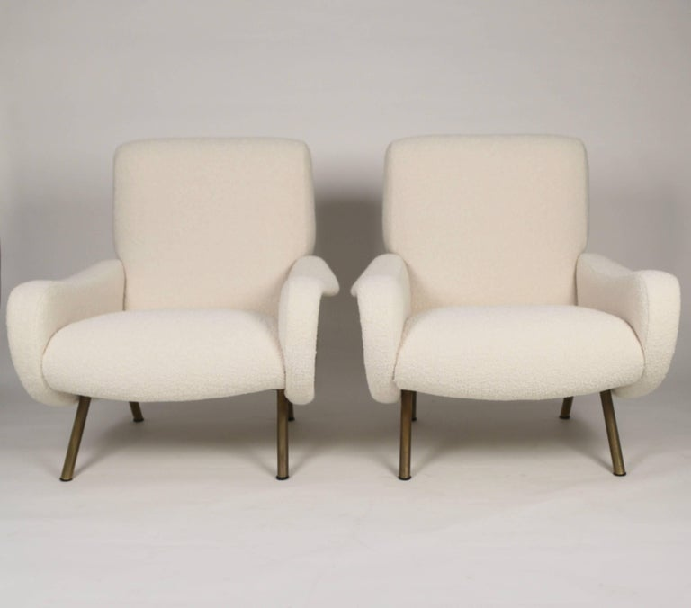 Mid-20th Century Marco Zanuso 'Lady' Chairs, Early Arflex Edition, circa 1951 For Sale