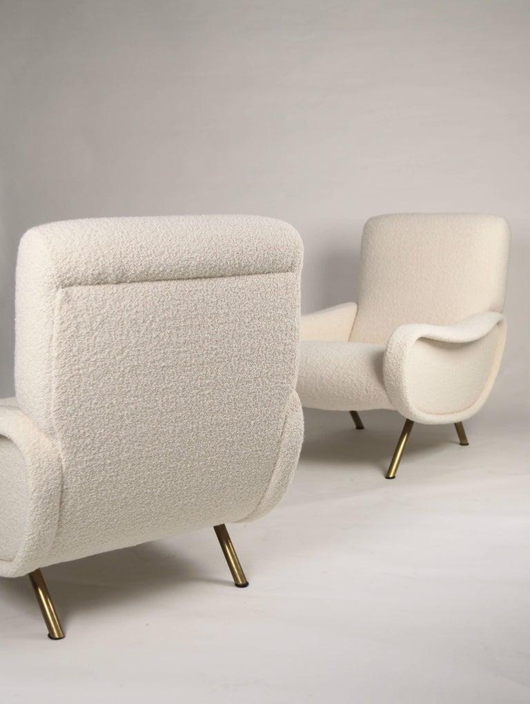 Mid-Century Modern Marco Zanuso 'Lady' Chairs, Early Arflex Edition, circa 1951 For Sale