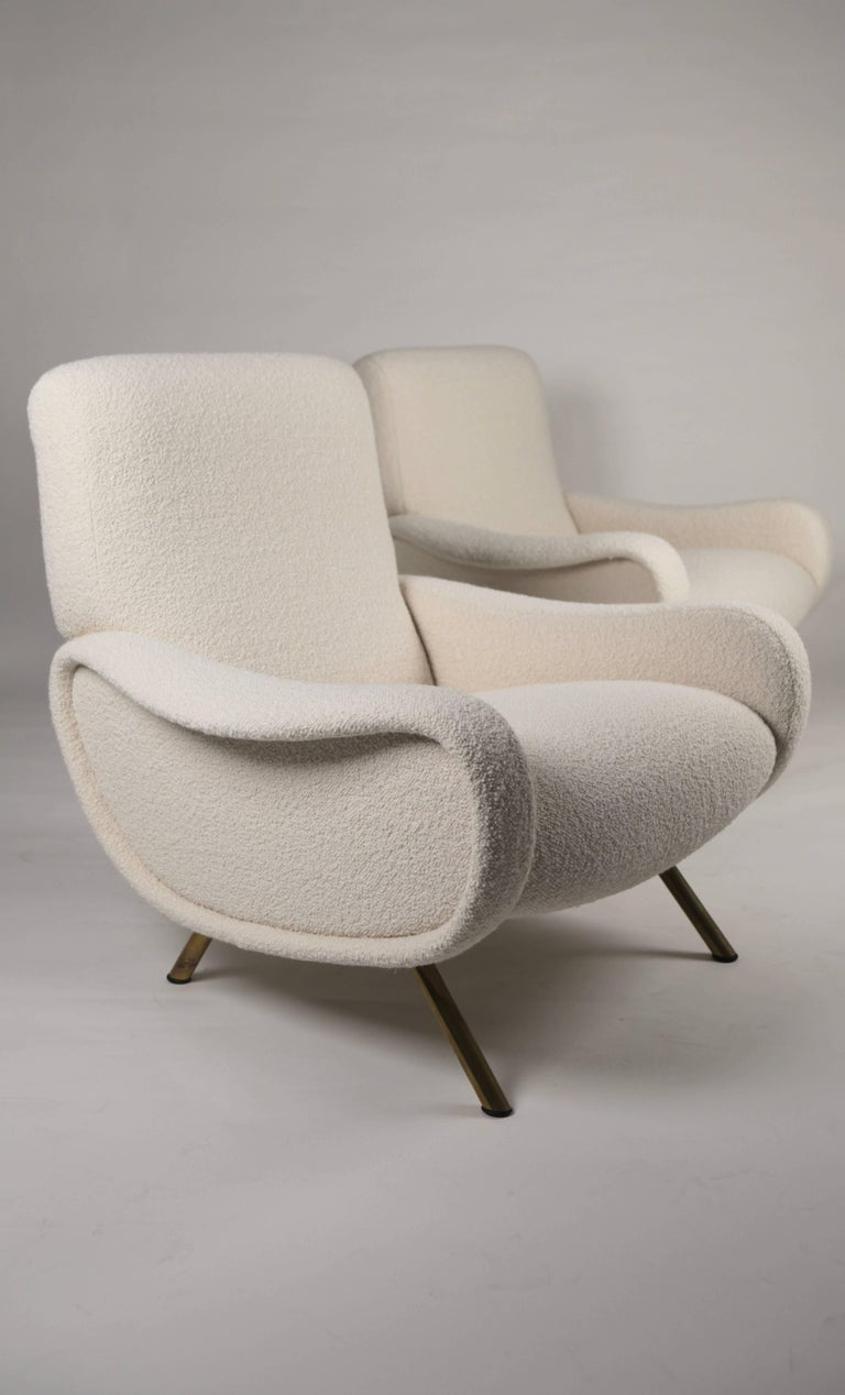 Italian Marco Zanuso 'Lady' Chairs, Early Arflex Edition, circa 1951 For Sale