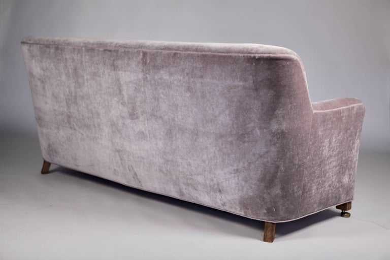 A.J. Iversen Three-Seat Sofa Denmark, 1939 For Sale 1