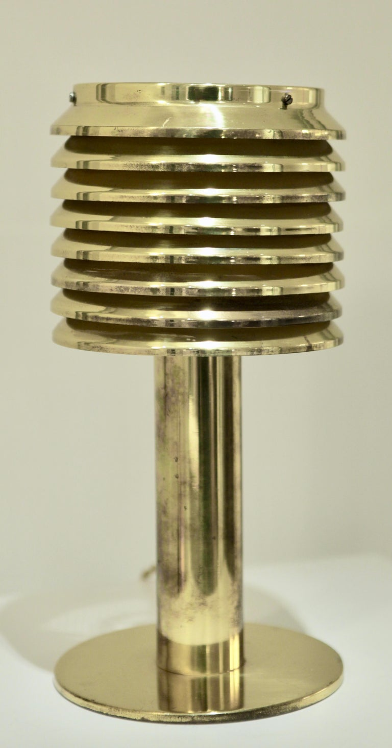 Hans-Agne Jakobsson, Table lamp, Model B 142 in brass, 1960s Excellent vintage condition, Rewired.