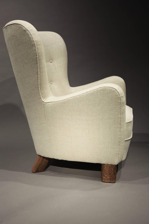 fritz hansen high back lounge chair at 1stdibs. Black Bedroom Furniture Sets. Home Design Ideas