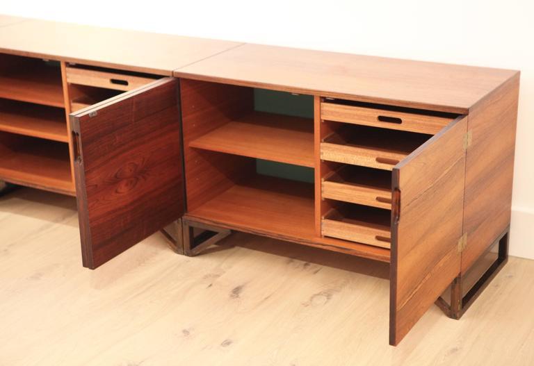 svend langkilde sideboard in rosewood at 1stdibs. Black Bedroom Furniture Sets. Home Design Ideas
