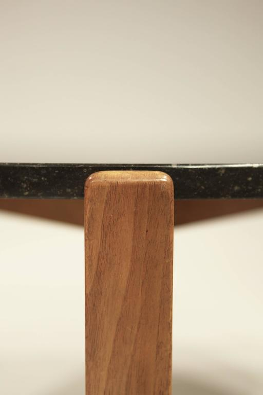 Mid-20th Century Josef Frank Coffee Table in Black Marble and Walnut, 1950 For Sale