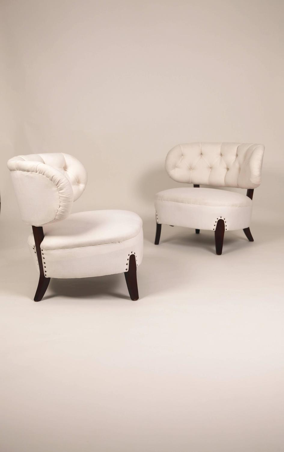 otto schulz cocktail chairs sweden 1940s at 1stdibs. Black Bedroom Furniture Sets. Home Design Ideas