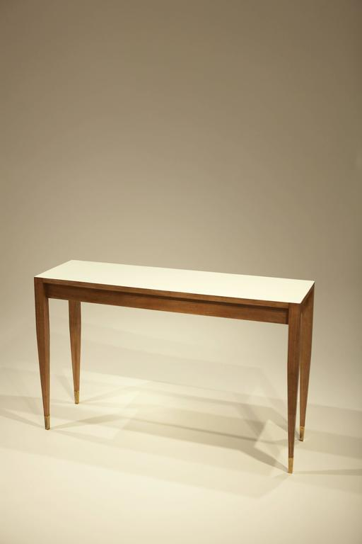 Ash Gio Ponti A Pair of Console Tables For Sale