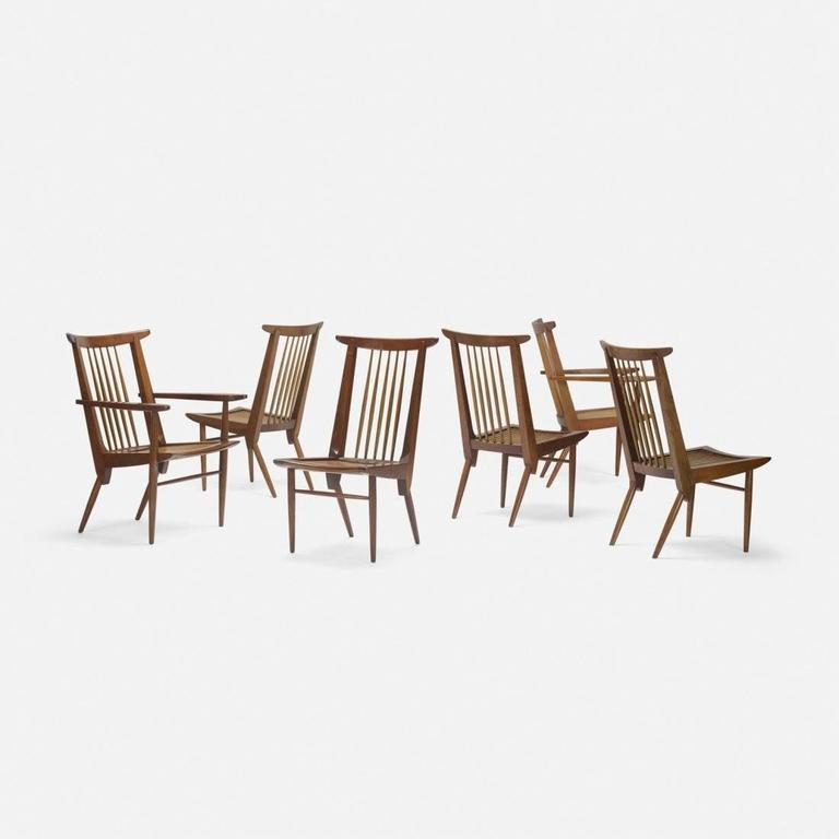 Mid-Century Modern George Nakashima Dining Chairs, USA, 1950s For Sale