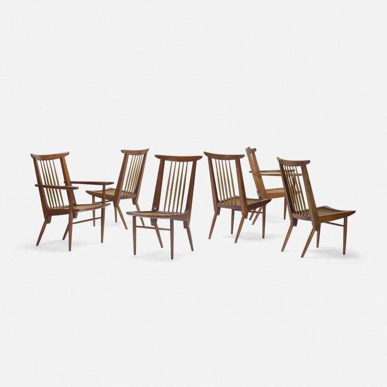 George Nakashima Dining Chairs, USA, 1950s 3