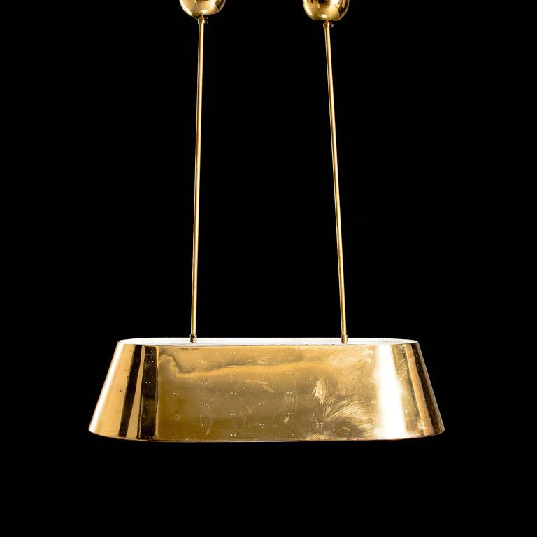 Scandinavian Modern Paavo Tynell Large Ceiling Light For Sale