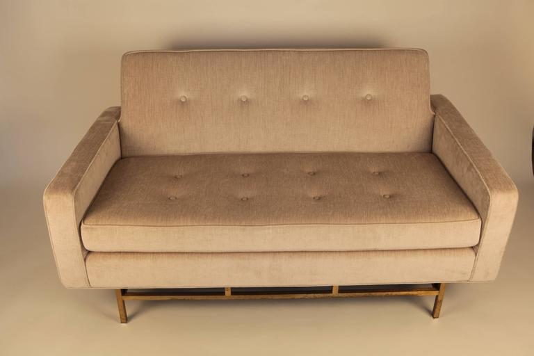 Brass Harvey Probber, Pair of Sofas, 1940s For Sale