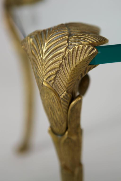 Maison Charles, Pair of Bronze and Glass Coffee Tables 3