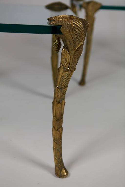 Maison Charles, Pair of Bronze and Glass Coffee Tables 5